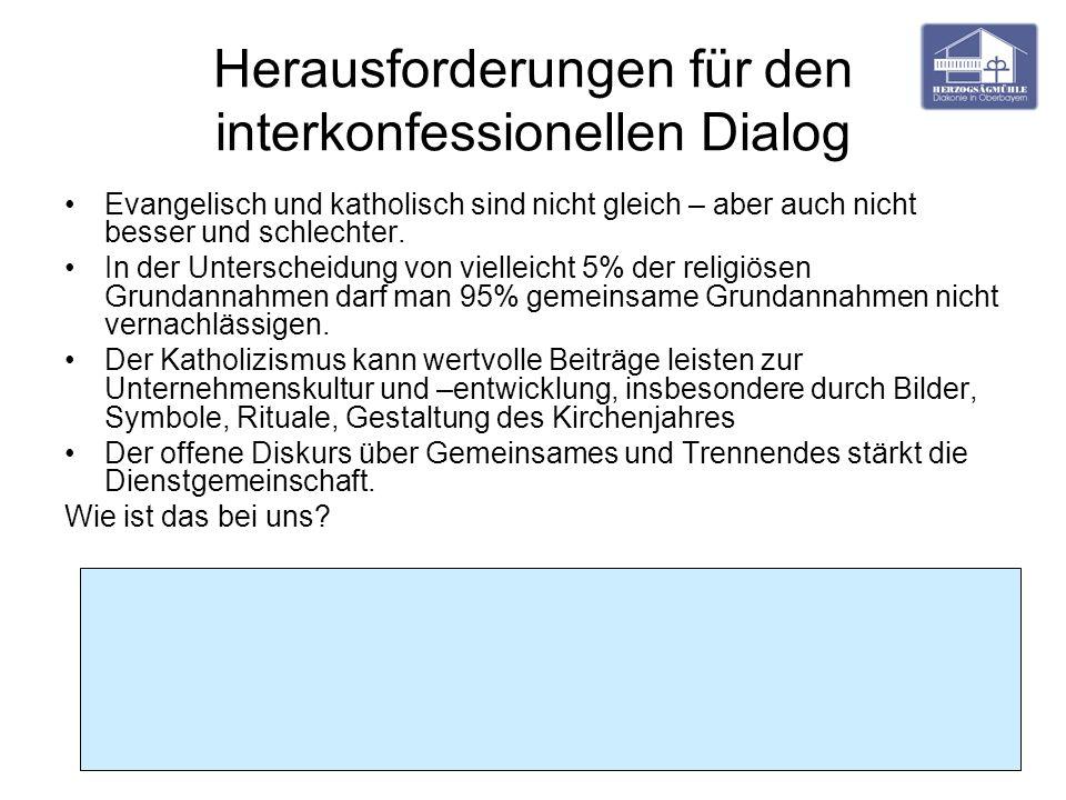 Herausforderungen für den interkonfessionellen Dialog