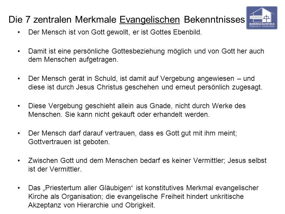 Die 7 zentralen Merkmale Evangelischen Bekenntnisses