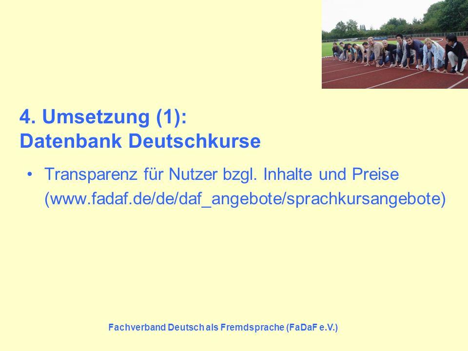 4. Umsetzung (1): Datenbank Deutschkurse