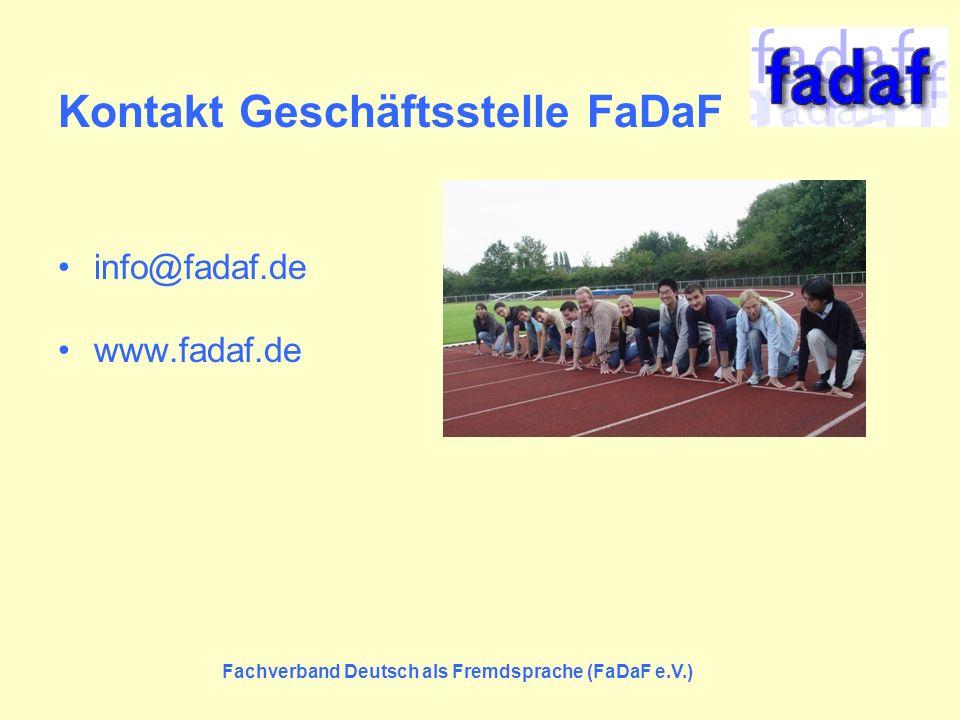 Kontakt Geschäftsstelle FaDaF