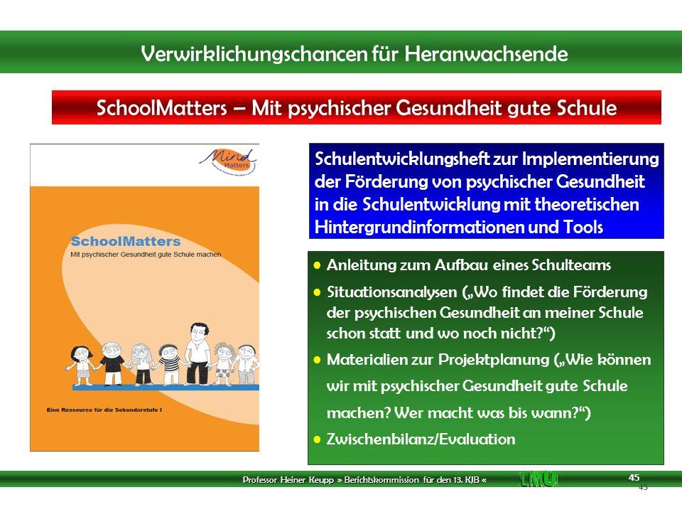 SchoolMatters – Mit psychischer Gesundheit gute Schule machen
