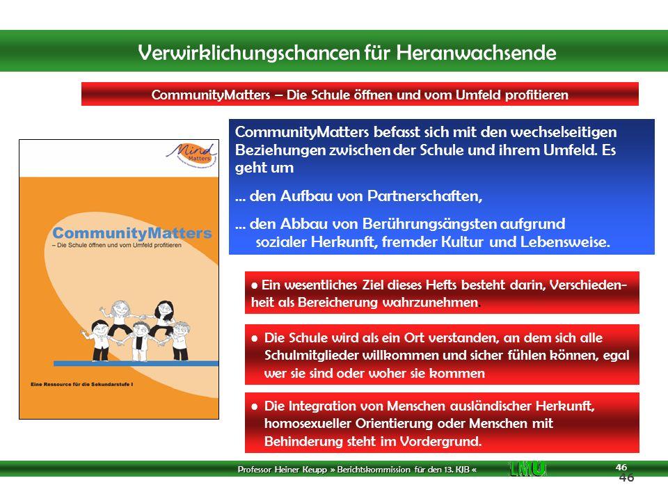 CommunityMatters – Die Schule öffnen und vom Umfeld profitieren