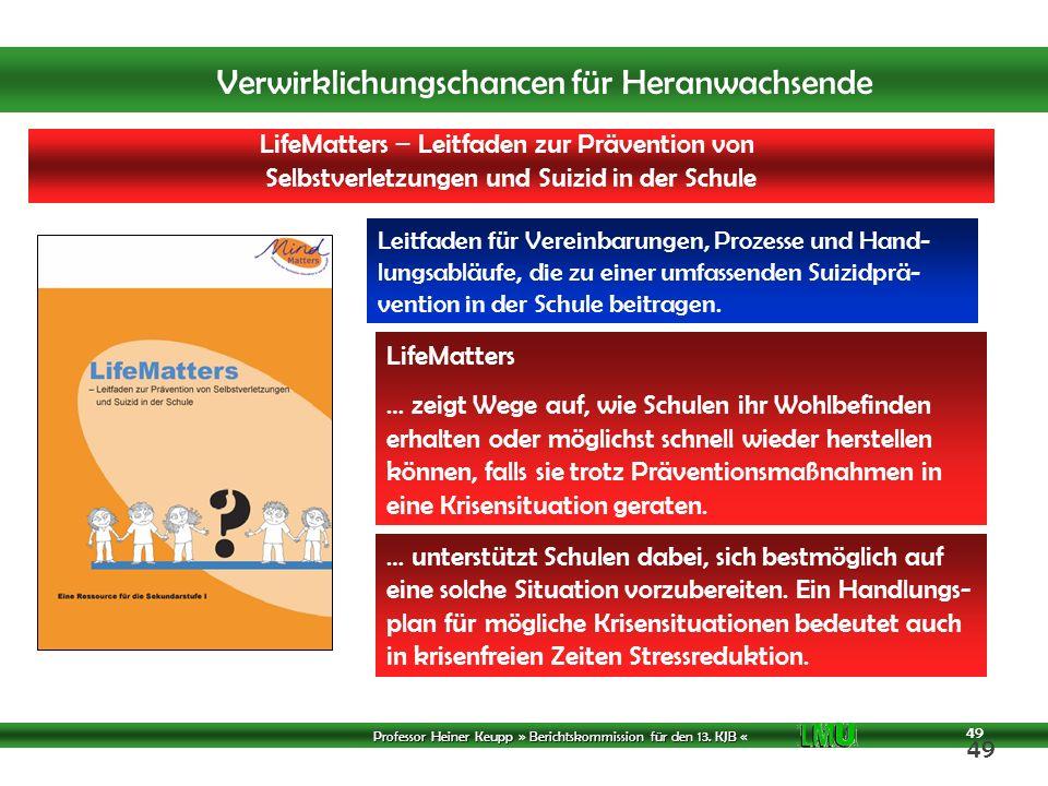 LifeMatters – Leitfaden zur Prävention von