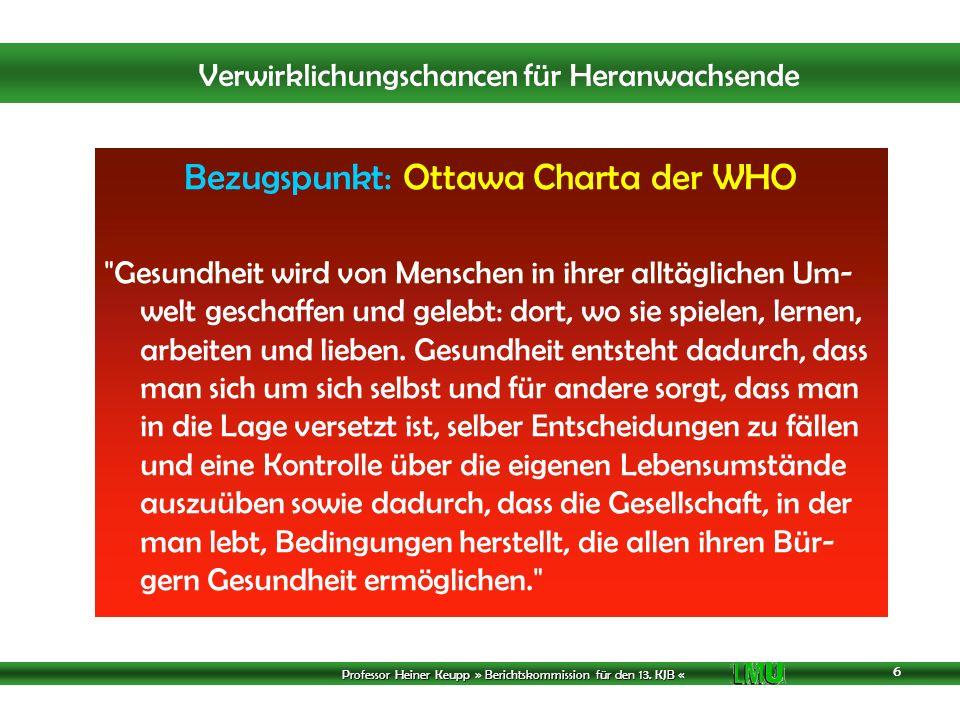 Bezugspunkt: Ottawa Charta der WHO