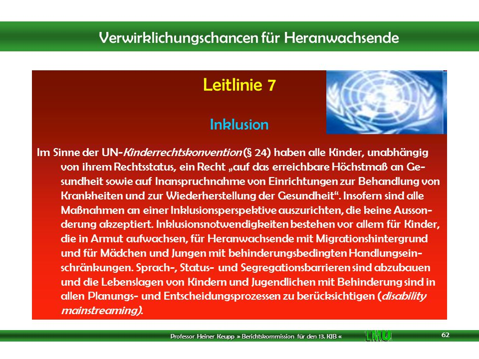 Leitlinie 7 Inklusion.