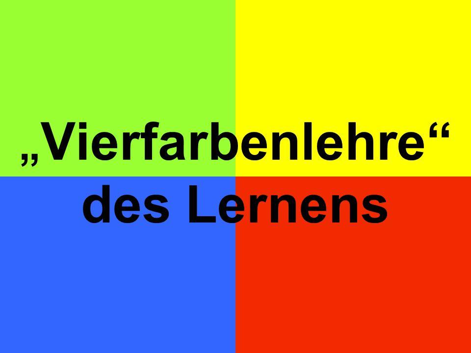 """""""Vierfarbenlehre des Lernens"""