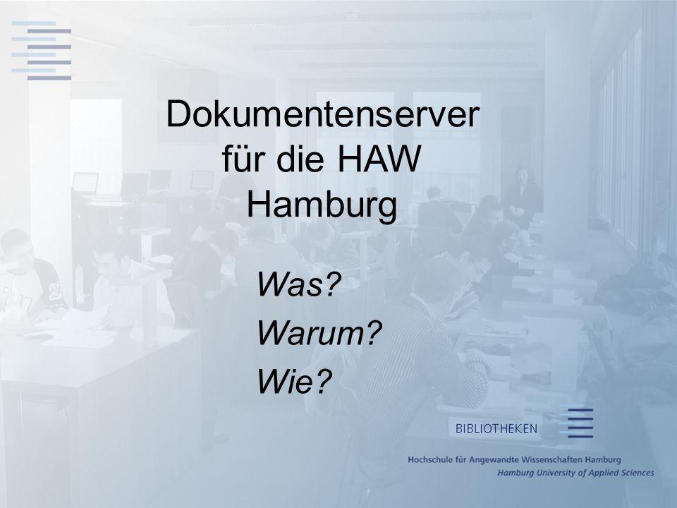 Dokumentenserver für die HAW Hamburg