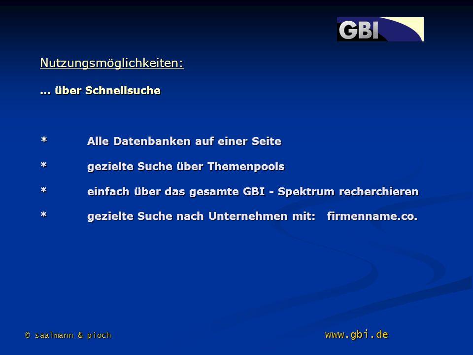 © saalmann & pioch www.gbi.de