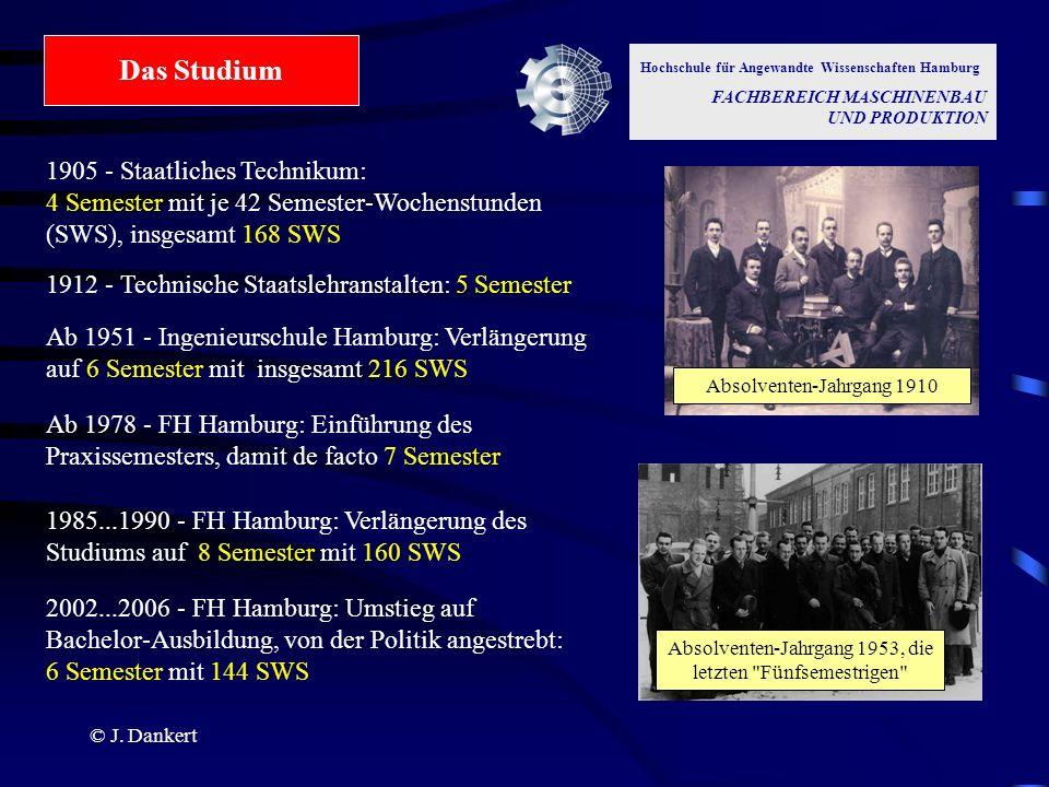 Das Studium Hochschule für Angewandte Wissenschaften Hamburg. FACHBEREICH MASCHINENBAU UND PRODUKTION.