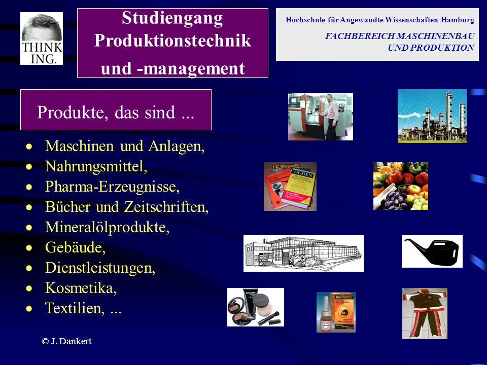 Studiengang Produktionstechnik und -management