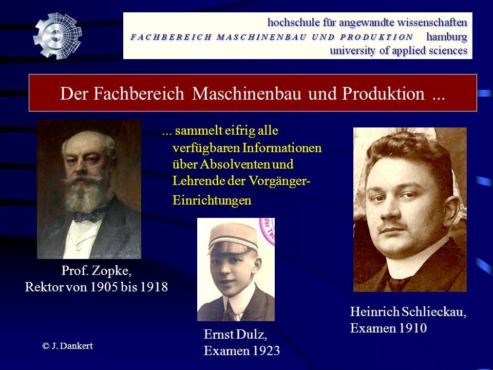 Der Fachbereich Maschinenbau und Produktion ...