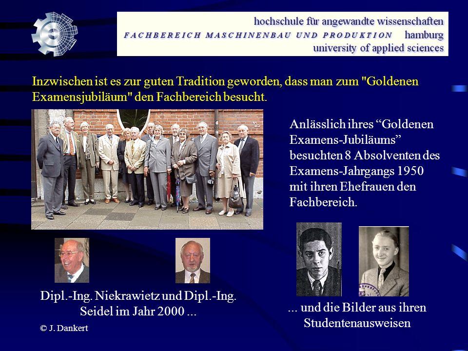 Dipl.-Ing. Niekrawietz und Dipl.-Ing. Seidel im Jahr 2000 ...