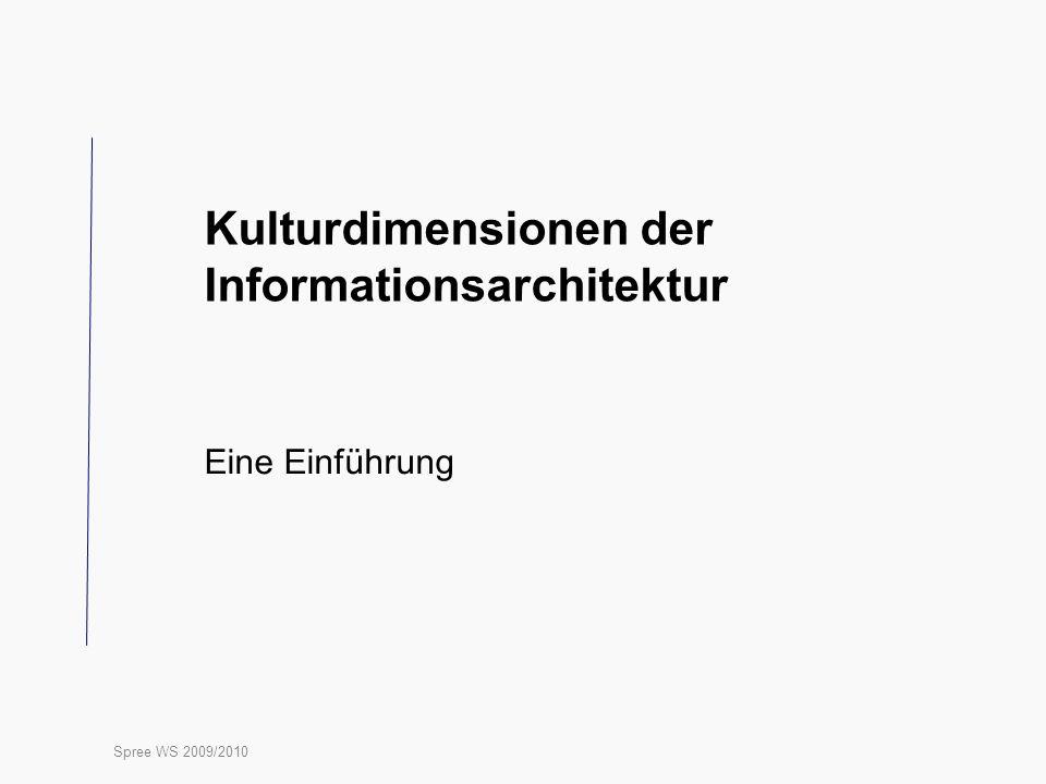Kulturdimensionen der Informationsarchitektur