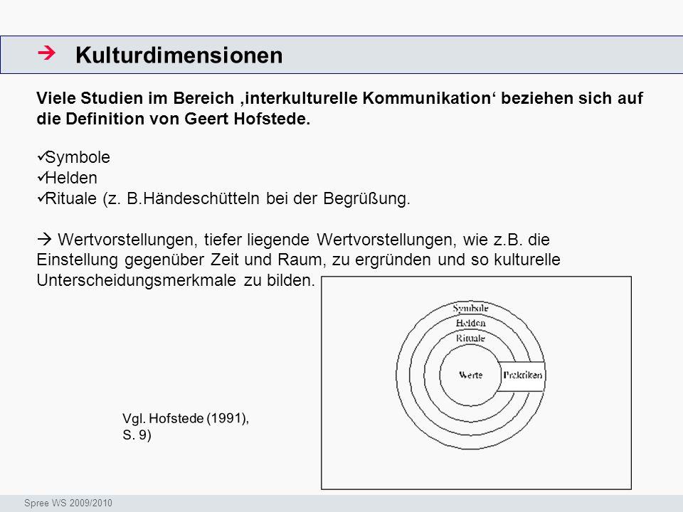 Kulturdimensionen  ArbeitsschritteW. Viele Studien im Bereich 'interkulturelle Kommunikation' beziehen sich auf die Definition von Geert Hofstede.