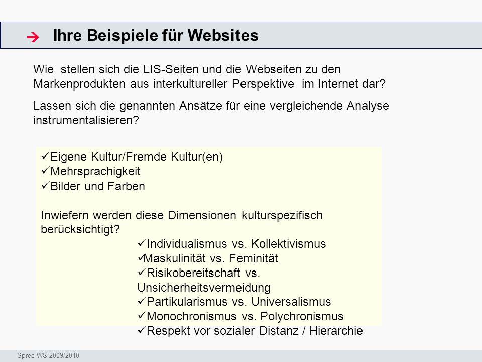 Ihre Beispiele für Websites