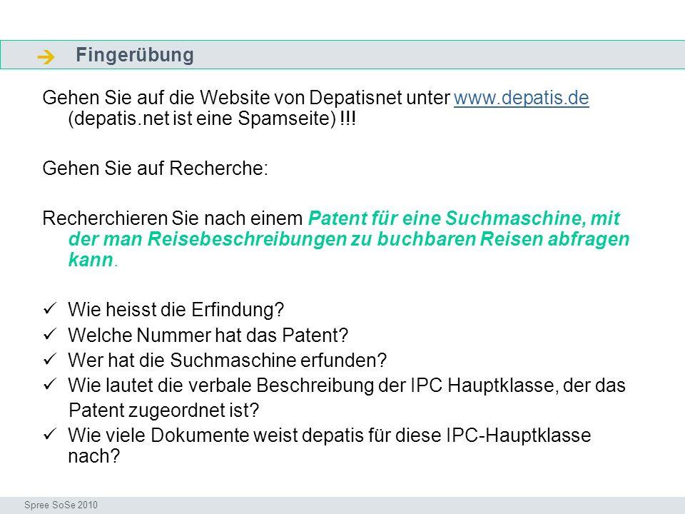  Fingerübung. Fragen. Gehen Sie auf die Website von Depatisnet unter www.depatis.de (depatis.net ist eine Spamseite) !!!