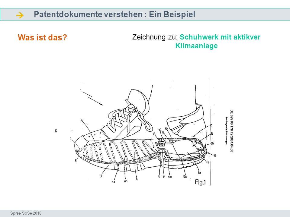Zeichnung zu: Schuhwerk mit aktikver Klimaanlage