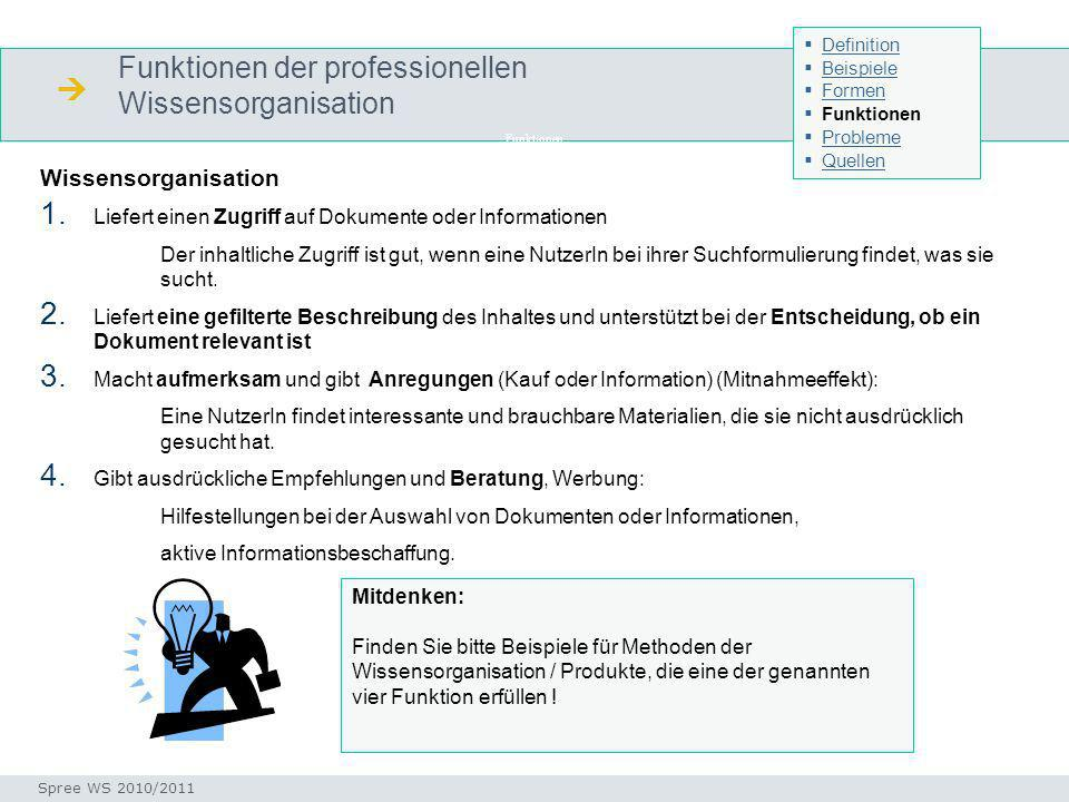  Funktionen der professionellen Wissensorganisation