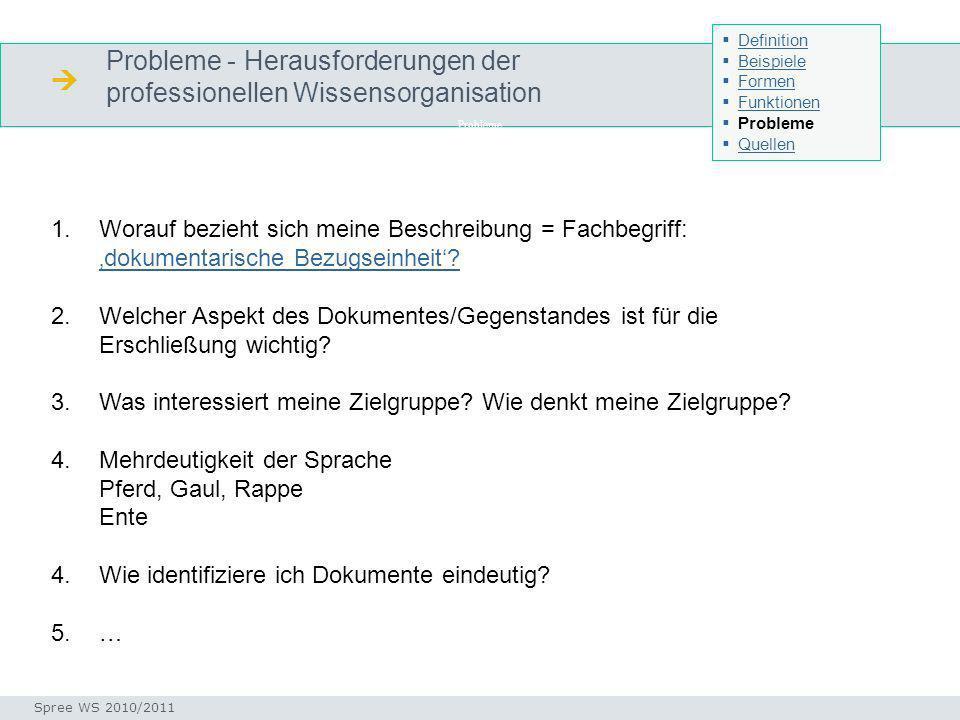  Probleme - Herausforderungen der professionellen Wissensorganisation
