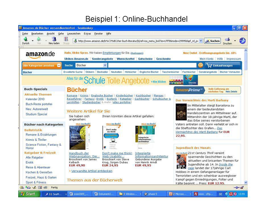 Beispiel 1: Online-Buchhandel