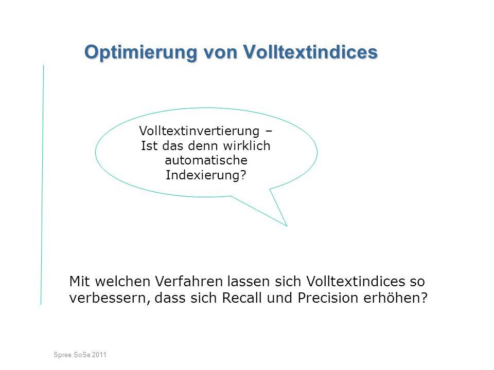 Optimierung von Volltextindices