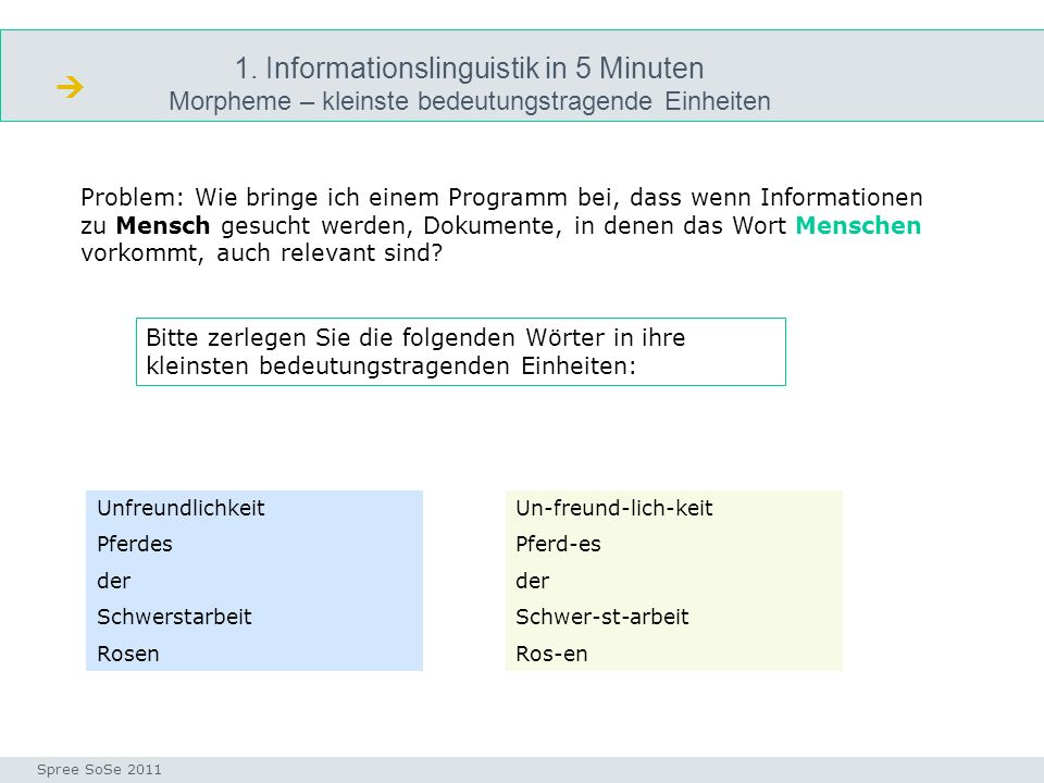  1. Informationslinguistik in 5 Minuten