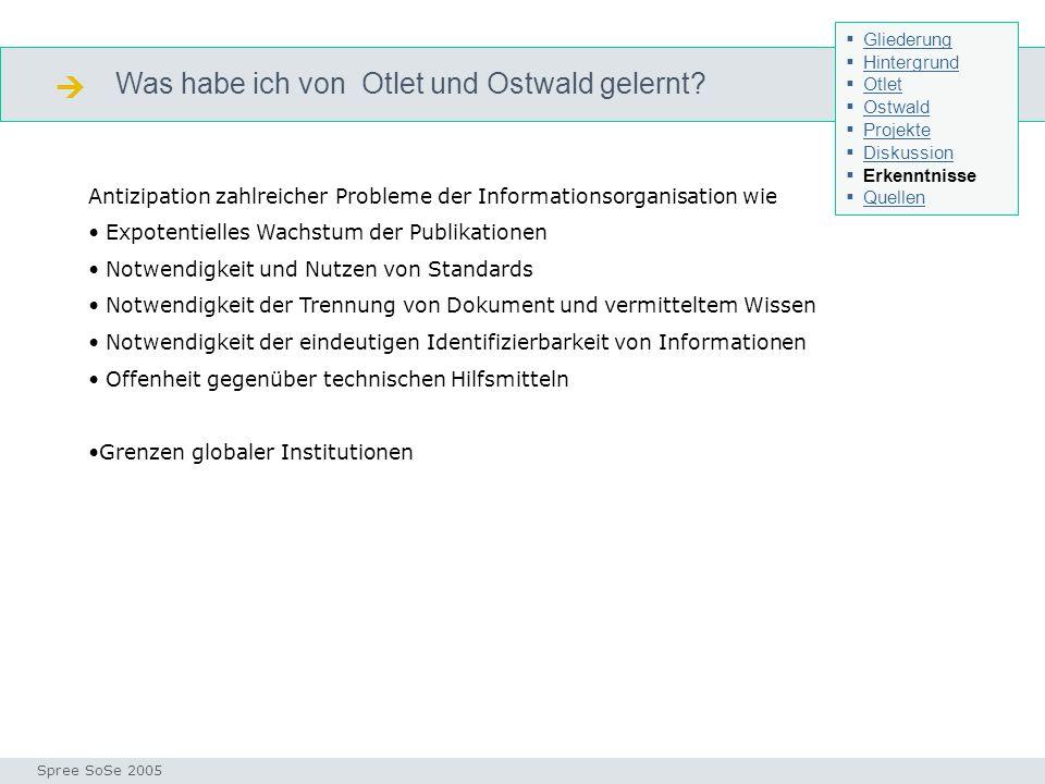  Was habe ich von Otlet und Ostwald gelernt