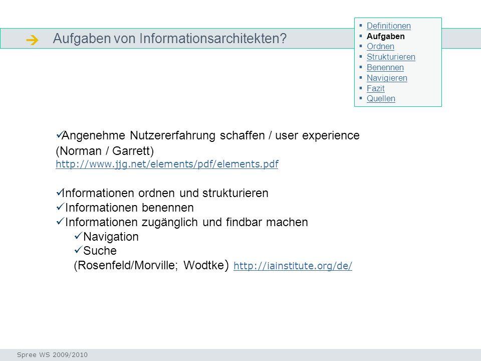  Aufgaben von Informationsarchitekten