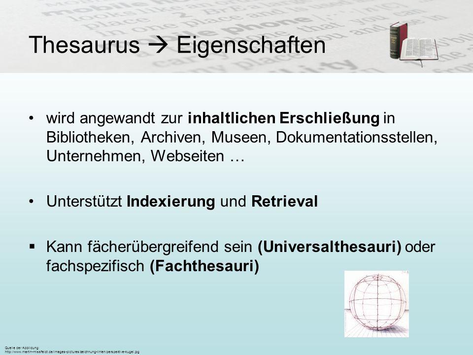 Thesaurus  Eigenschaften