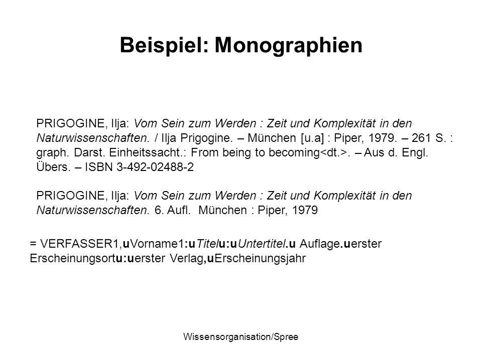 Beispiel: Monographien