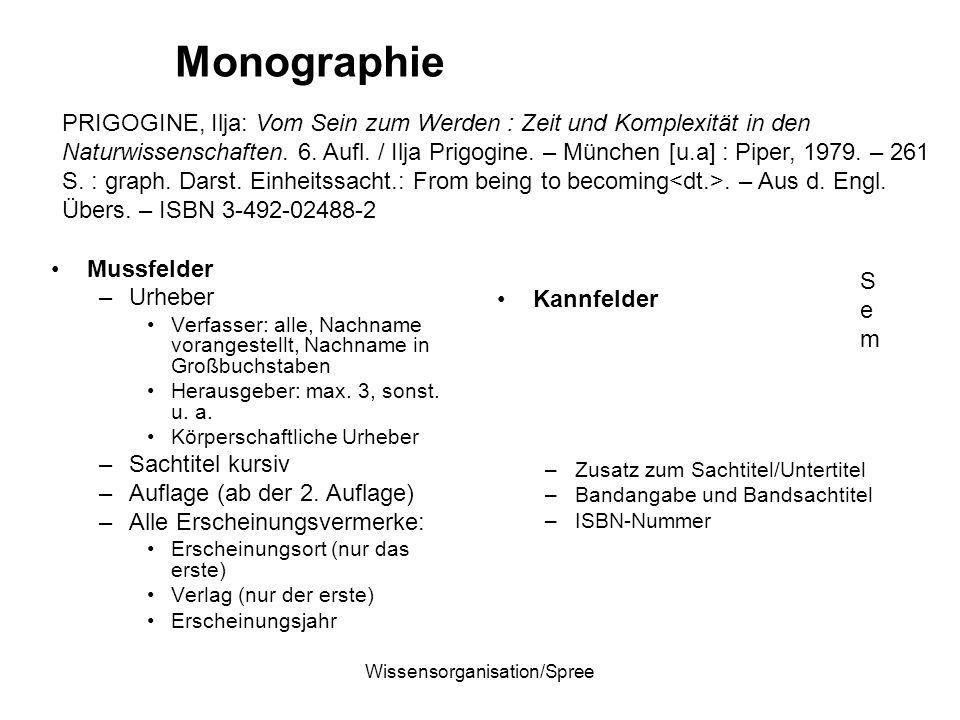 Wissensorganisation/Spree