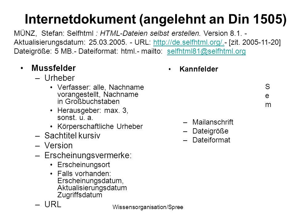 Internetdokument (angelehnt an Din 1505)
