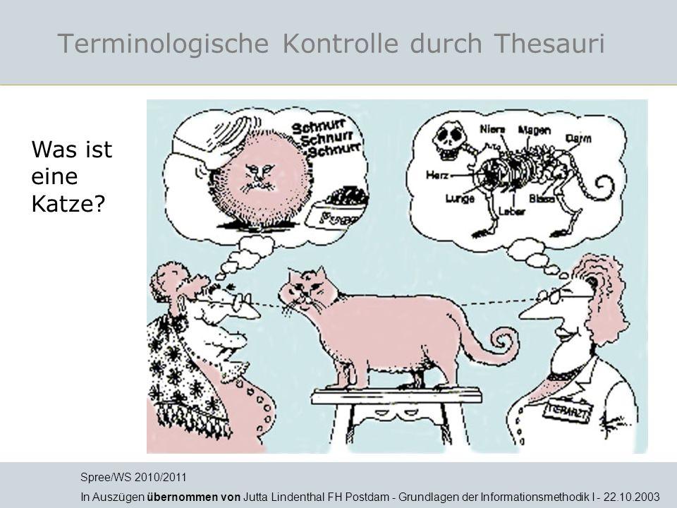 Terminologische Kontrolle durch Thesauri