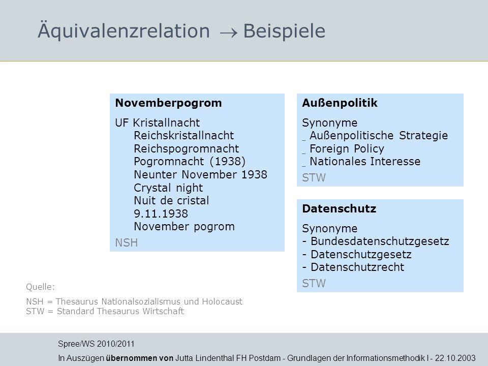 Äquivalenzrelation  Beispiele