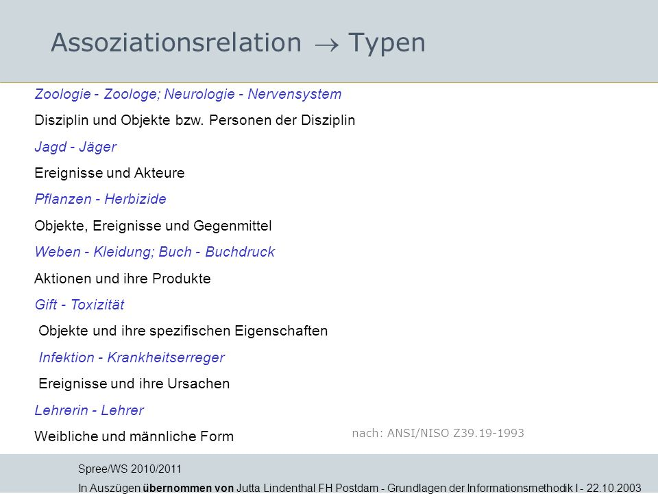 Assoziationsrelation  Typen