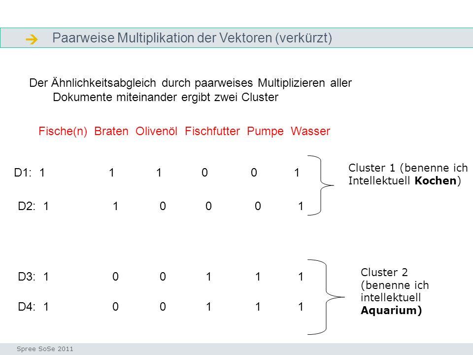  Paarweise Multiplikation der Vektoren (verkürzt)