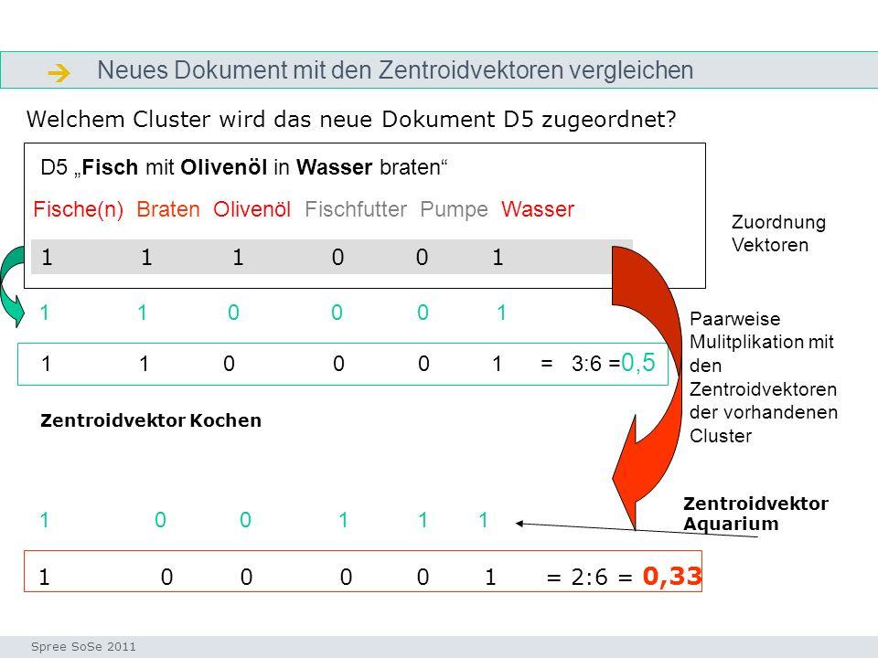  Neues Dokument mit den Zentroidvektoren vergleichen