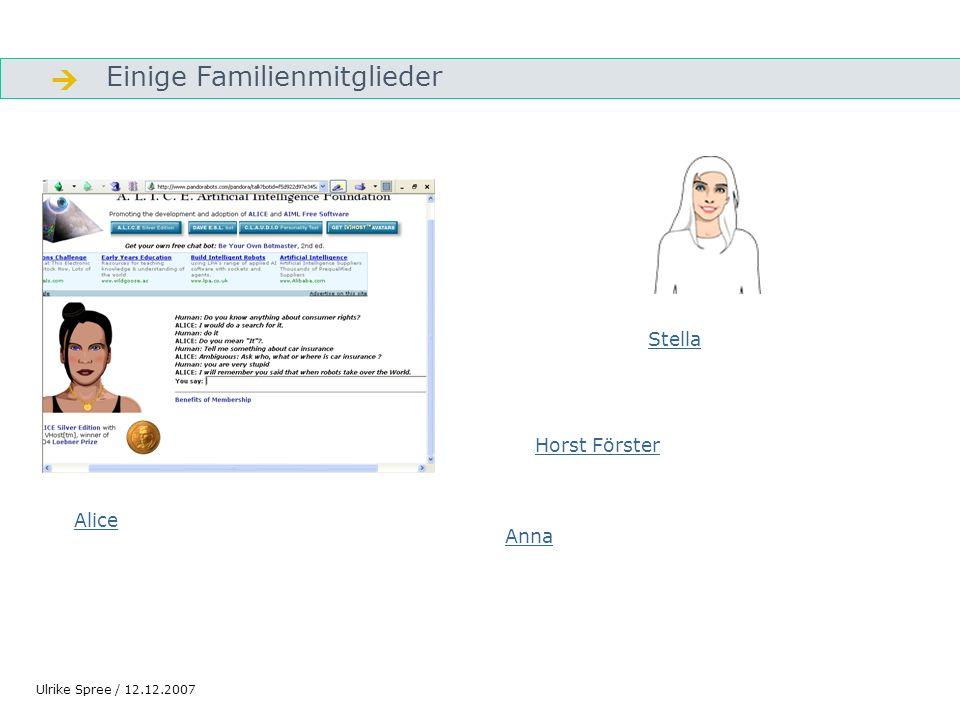  Einige Familienmitglieder Stella Horst Förster Alice Anna
