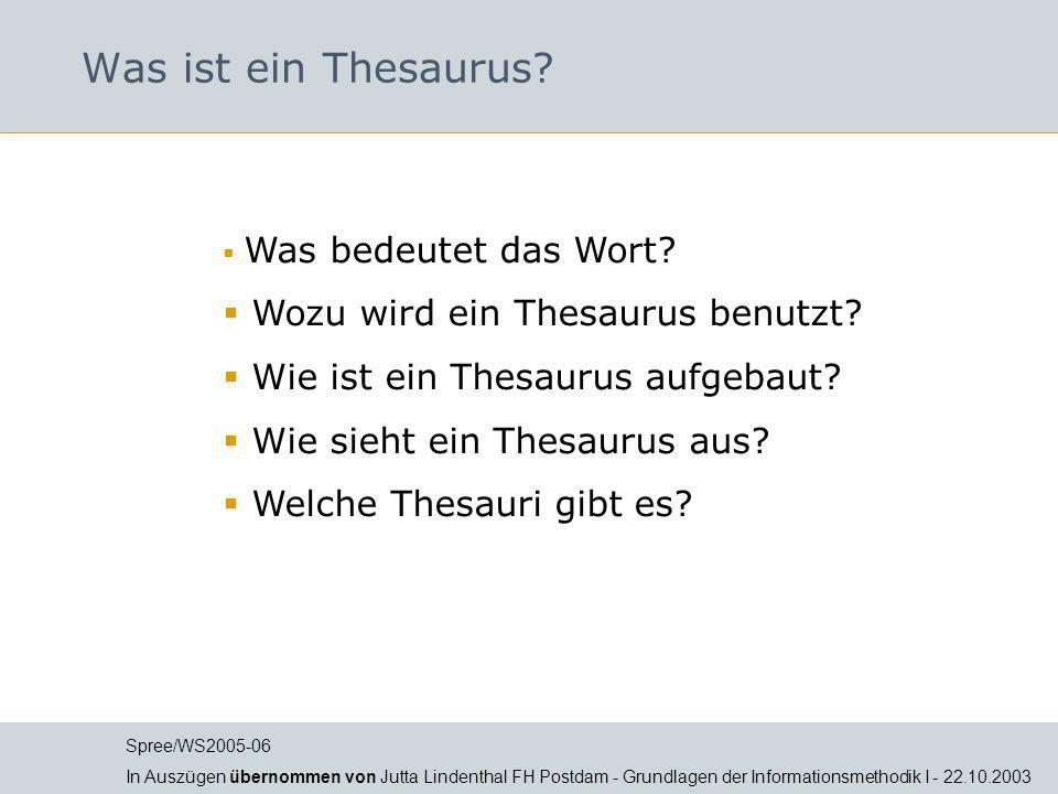 Was ist ein Thesaurus Wozu wird ein Thesaurus benutzt