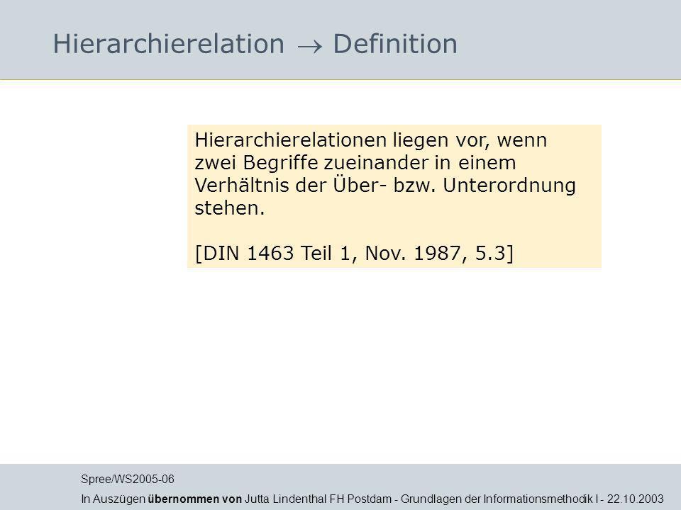 Hierarchierelation  Definition