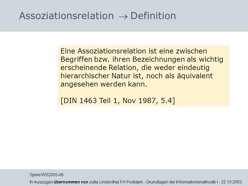 Assoziationsrelation  Definition