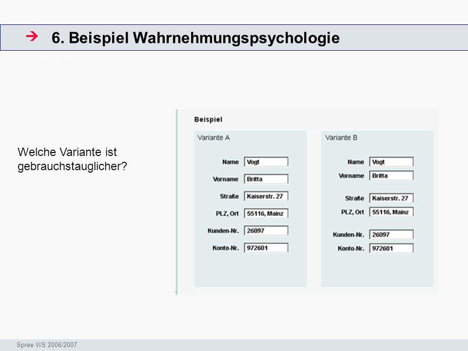 6. Beispiel Wahrnehmungspsychologie