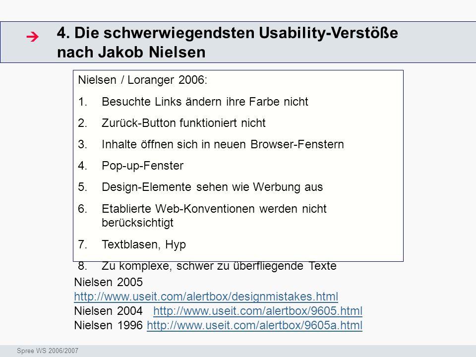 4. Die schwerwiegendsten Usability-Verstöße nach Jakob Nielsen