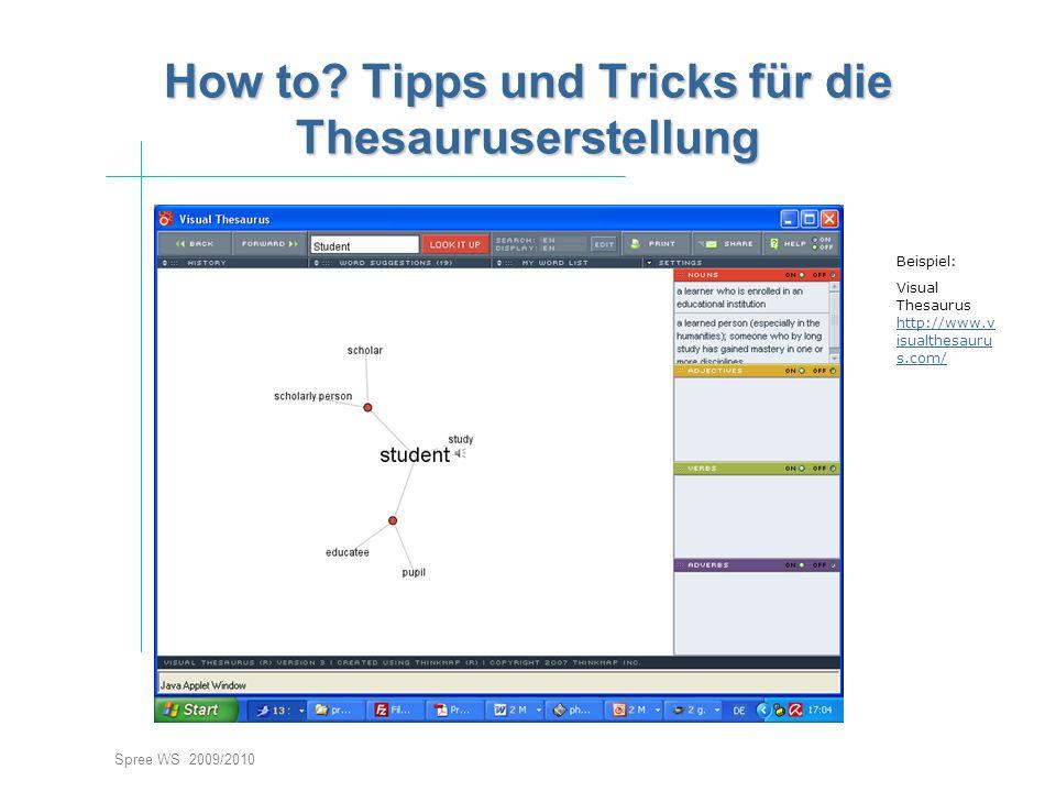 How to Tipps und Tricks für die Thesauruserstellung