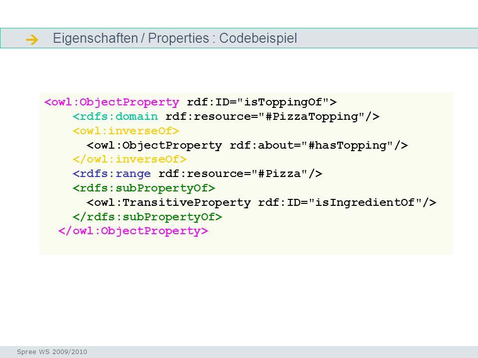  Eigenschaften / Properties : Codebeispiel