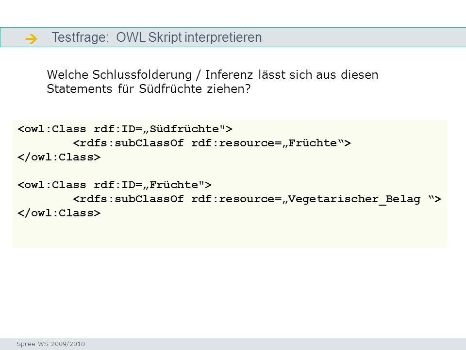  Testfrage: OWL Skript interpretieren