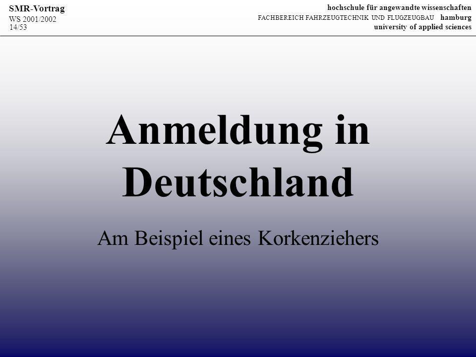 Anmeldung in Deutschland