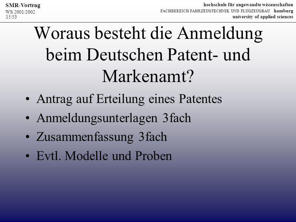 Woraus besteht die Anmeldung beim Deutschen Patent- und Markenamt