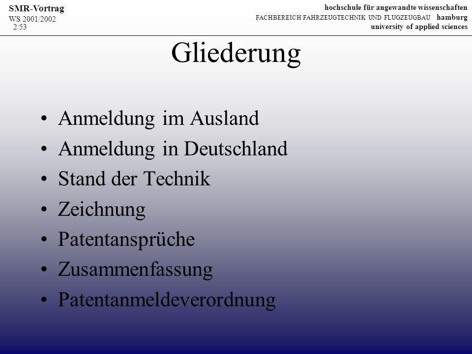 Gliederung Anmeldung im Ausland Anmeldung in Deutschland
