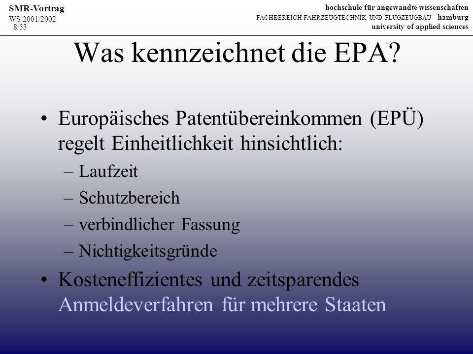 Was kennzeichnet die EPA